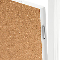 GoodHome Alara Cork & white Modular Room divider panel (H)0.5m (W)1m