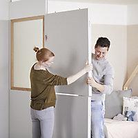 GoodHome Alara White Modular Room divider panel (H)0.5m (W)1m