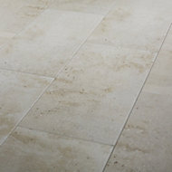 Reclaimed Off white Matt Concrete effect Porcelain Floor tile, Pack of 6, (L)600mm (W)300mm