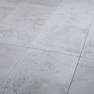 Reclaimed Grey Matt Concrete effect Porcelain Floor tile, Pack of 6, (L)600mm (W)300mm