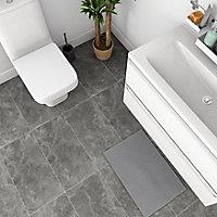 Mulligan Anthracite Matt Stone effect Ceramic Floor tile, Pack of 6, (L)600mm (W)300mm