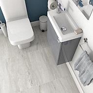 Vinto Grey Matt Stone effect Ceramic Floor tile, Pack of 6, (L)600mm (W)300mm