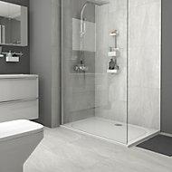 Killington Light grey Matt Marble effect Ceramic Floor tile, Pack of 6, (L)600mm (W)300mm
