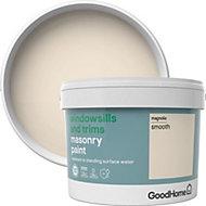 GoodHome Windowsills & trims Magnolia Smooth Matt Masonry paint 2.5L
