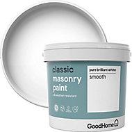 GoodHome Classic Pure brilliant white Smooth Matt Masonry paint 5L