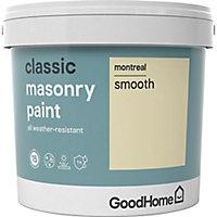 GoodHome Classic Montreal Smooth Matt Masonry paint, 5L