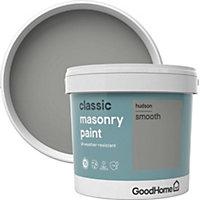 GoodHome Classic Hudson Smooth Matt Masonry paint 5L