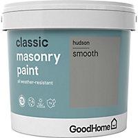 GoodHome Classic Hudson Smooth Matt Masonry paint, 5L