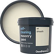 GoodHome Self-cleaning Vail Smooth Matt Masonry paint, 5L