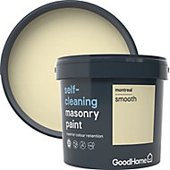 GoodHome Self-cleaning Montreal Smooth Matt Masonry paint, 5L