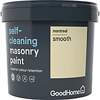 GoodHome Self-cleaning Montreal Smooth Matt Masonry paint, 5L
