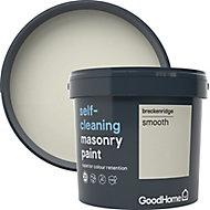 GoodHome Self-cleaning Breckenridge Smooth Matt Masonry paint, 5L