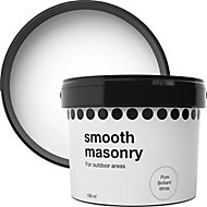 Pure brilliant white Smooth Matt Masonry paint, 10L