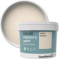 GoodHome Classic Magnolia Smooth Matt Masonry paint, 10L