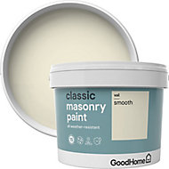 GoodHome Classic Vail Smooth Matt Masonry paint, 10L