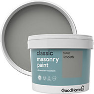GoodHome Classic Hudson Smooth Matt Masonry paint, 10L