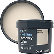 GoodHome Self-cleaning Magnolia Smooth Matt Masonry paint, 10L