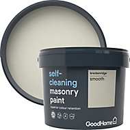 GoodHome Self-cleaning Breckenridge Smooth Matt Masonry paint, 10L