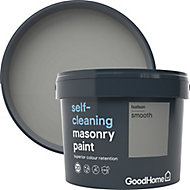 GoodHome Self-cleaning Hudson Smooth Matt Masonry paint, 10L