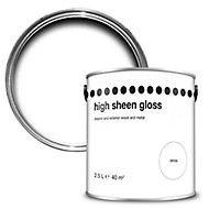 High sheen White Gloss Paint 2.5L