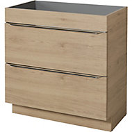 GoodHome Imandra Oak effect Vanity & basin Cabinet (W)800mm (H)820mm