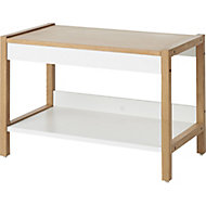 GoodHome Nantua White Bench