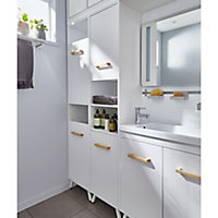 GoodHome Ladoga White Chipboard Shelving, (D)360mm