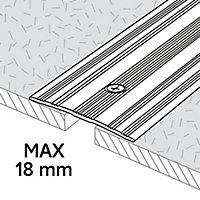 GoodHome DECOR 15 Matt Silver effect Cover strip (L)180cm