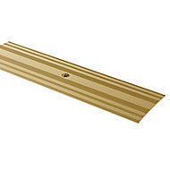 GoodHome DECOR 35 Matt Gold effect Cover strip (L)93cm