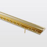 GoodHome DECOR 30 Gloss Gold effect Carpet to carpet trim (L)93cm