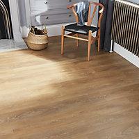 GoodHome Mossley Natural oak effect Laminate flooring, 1.73m² Pack