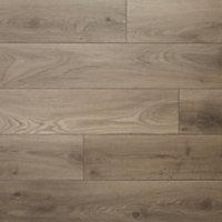 GoodHome Oldbury Grey Oak effect Laminate flooring, 1.73m² Pack