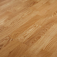 GoodHome Elkins Natural Oak Real wood top layer flooring, 1.58m² Pack