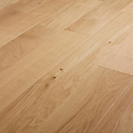 GoodHome Hedmark Natural Oak Real wood top layer flooring, 0.99m² Pack