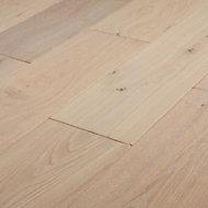GoodHome Agung Vintage grey Oak Real wood top layer flooring, 2.05m² Pack