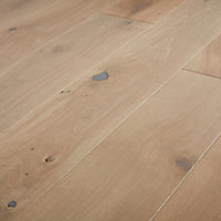 GoodHome Mawson Grey Oak Real wood top layer flooring, 1.37m² Pack