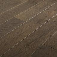GoodHome Sumbing Grey Oak Real wood top layer flooring, 1.4m2 Pack