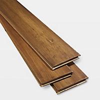 GoodHome Pattaya Bamboo Real wood top layer flooring, 1.67m² Pack