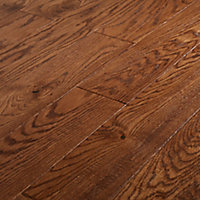 GoodHome Usborne Oak Real wood top layer flooring, 1.21m² Pack