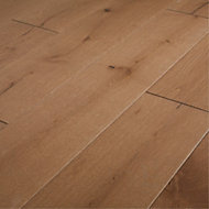 GoodHome Fryatt Oak Real wood top layer flooring, 1.37m2 Pack
