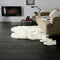 GoodHome Oppland Black Oak Real wood top layer flooring, 2.05m² Pack