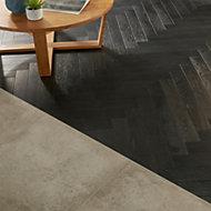 GoodHome Oppland Black Oak Real wood top layer flooring, 1.94m² Pack
