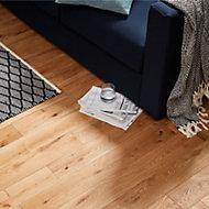 GoodHome Laholm Natural Oak Solid wood flooring, 1.48m2 Pack