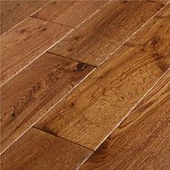 GoodHome Skara Natural Oak Solid wood flooring, 1.48m2 Pack