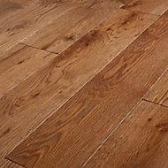 GoodHome Skara Natural Oak Solid wood flooring, 1.8m² Pack
