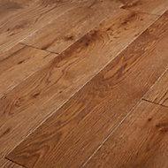 GoodHome Skara Natural Oak Solid wood flooring, 1.8m2 Pack