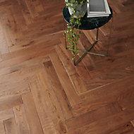 GoodHome Skara Natural Oak Solid wood flooring, 0.86m² Pack