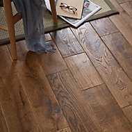 GoodHome Skanor Oak Solid wood flooring, 1.8m2 Pack
