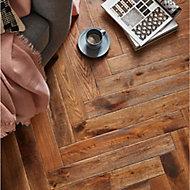GoodHome Skanor Narrow Oak Solid wood flooring, 0.86m² Pack