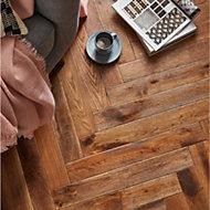 GoodHome Skanor Oak Solid wood flooring, 0.86m2 Pack